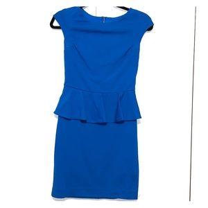Peplum pencil skirt dress